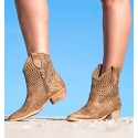 Carioca Camel Ankle Boots