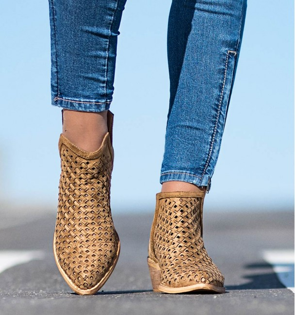 Arica Camel Ankle Boots