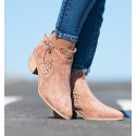 Cameron Pink Ankle Boots