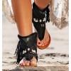 Hura Black Sandals Boots