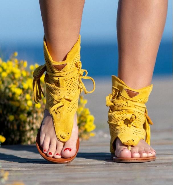 Yellow Boots Sandals Nosara