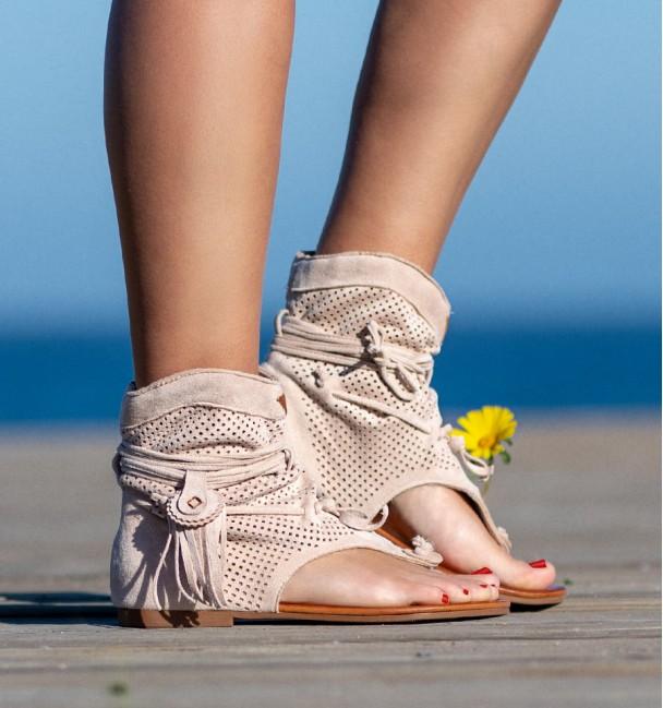 Nosara Beige Boots Sandals