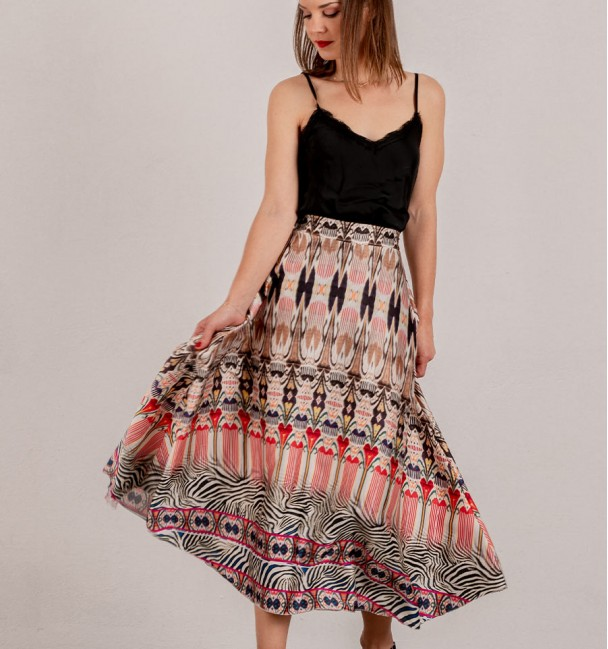 Skirt Difuse Red