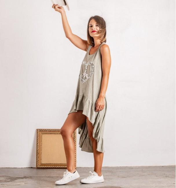 Vestido Zahora Cinzento