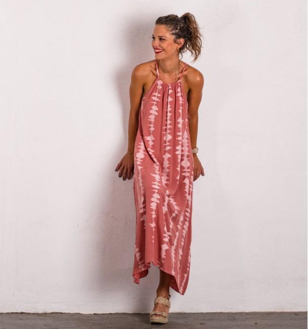 Dress Tie Midi Pink