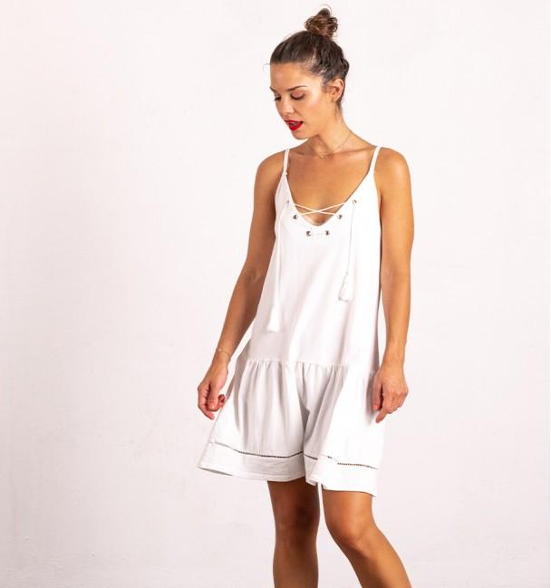 Vestido Curto Espartan Branco