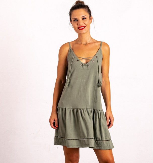 Espartan Dress Green