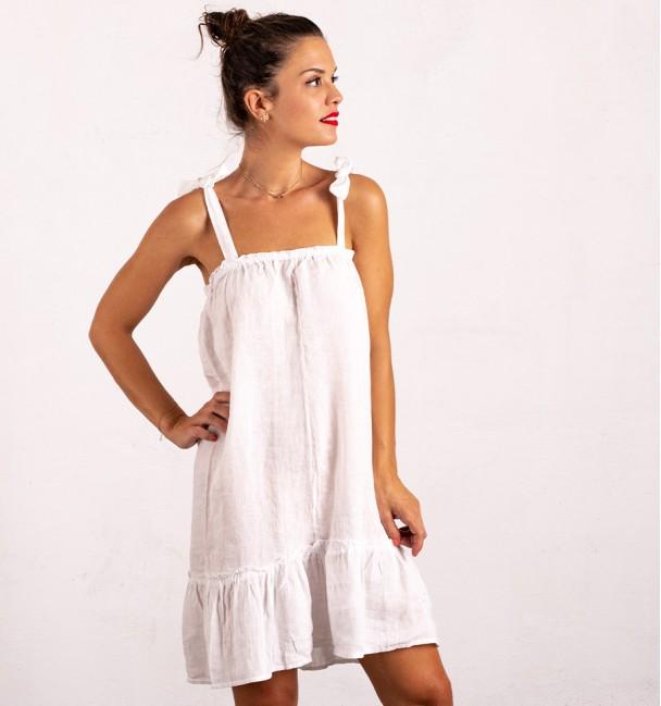 Vestido Linho Island Branco