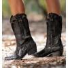 Patrick Black Cowboy Boots
