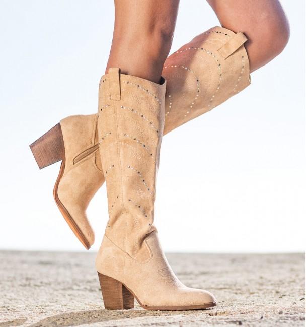 High Boho Boots Minca Beige