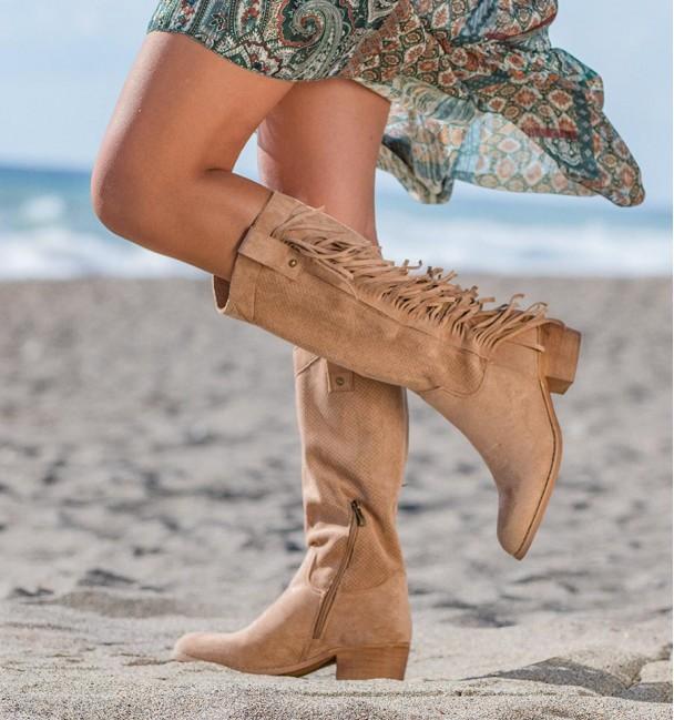 High Country Boots Khaki Checua