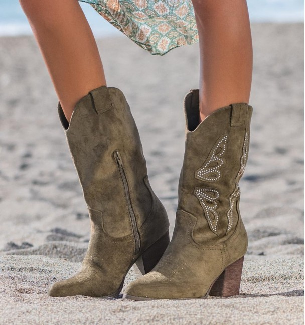 High Cowboy Boots Green Cocuy