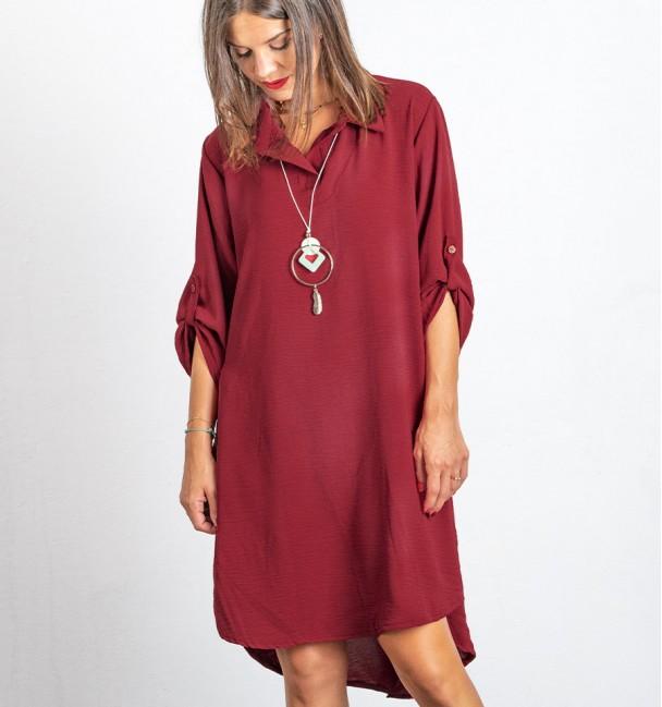 Vestido Hasel Borgonha