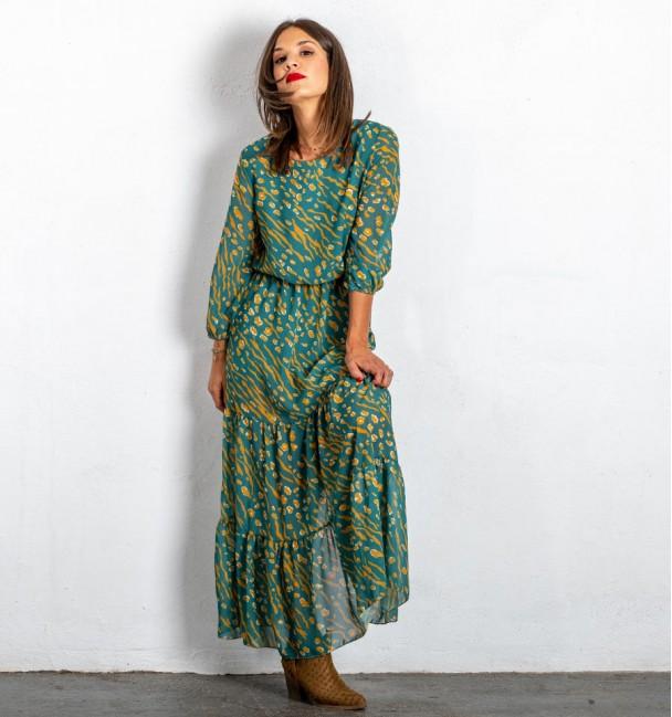 Vestido Longo Moshana Verde