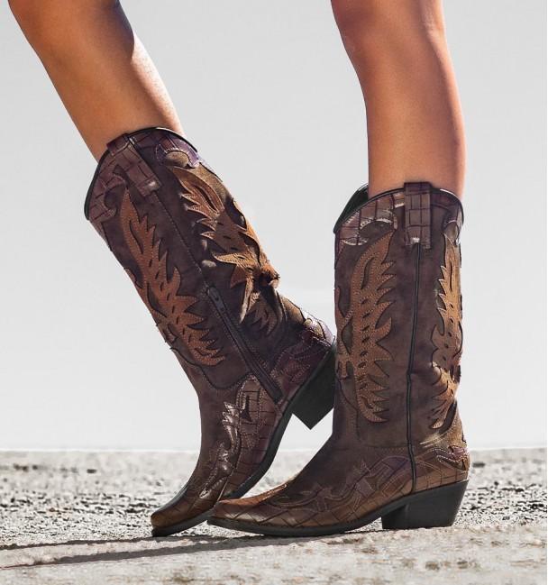 Leather Camel Color Cowboy Boots Patrick