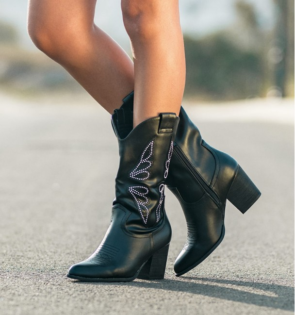 Black A High Cowboy Boots Cocuy