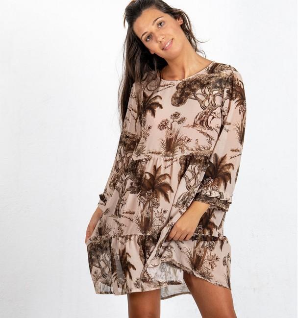 Vestido Bromelia Bege