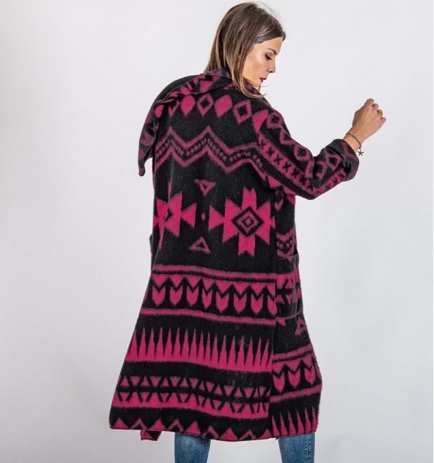 Ocopa Ethnic Fuchsia Coat