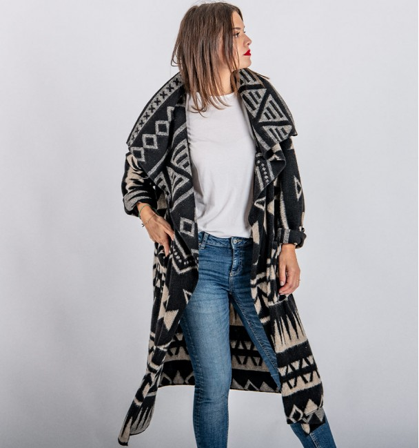 Ocopa Ethnic Black Coat