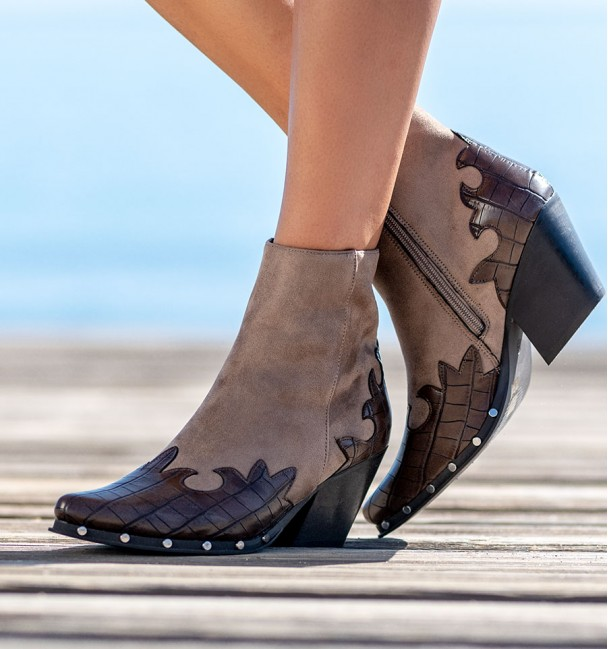 Allende Ankle Coffee Taupe Boots