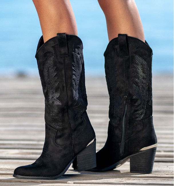 Black High Boots Baylor