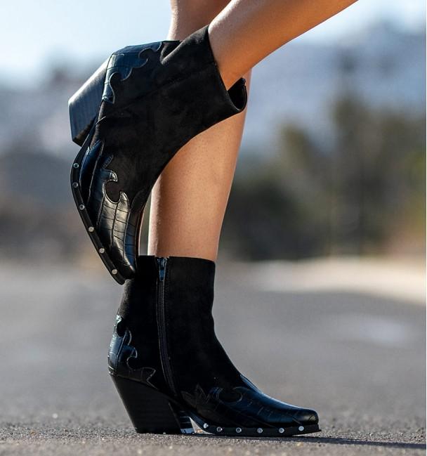 Allende Black Ankle Boots