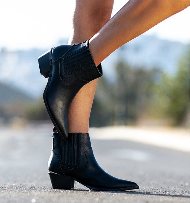 American Black Ankle Boots