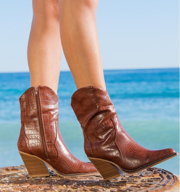 Vickery Coffee Ankle Boots