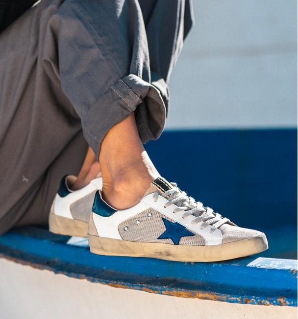 Navy Blue Sand Lyra Sneakers
