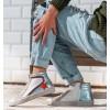 White Bordeaux Blue High Sneakers Tabit