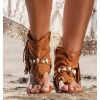 Huray Leather Sandals Boots