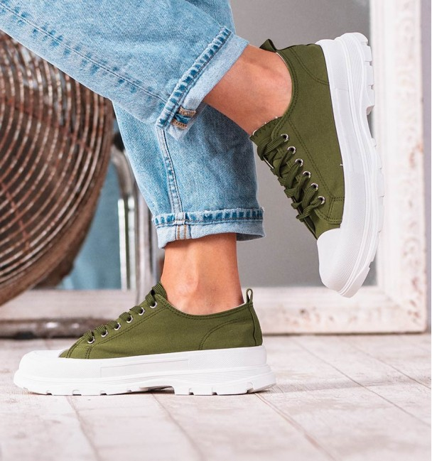 GREEN Q TRAINERS MON