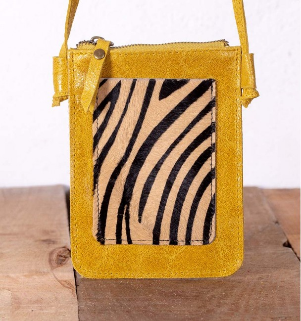 Desing Mustard Mobile Case Bag
