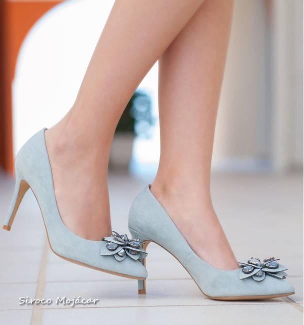 Zapatos de fiesta Paris Celeste