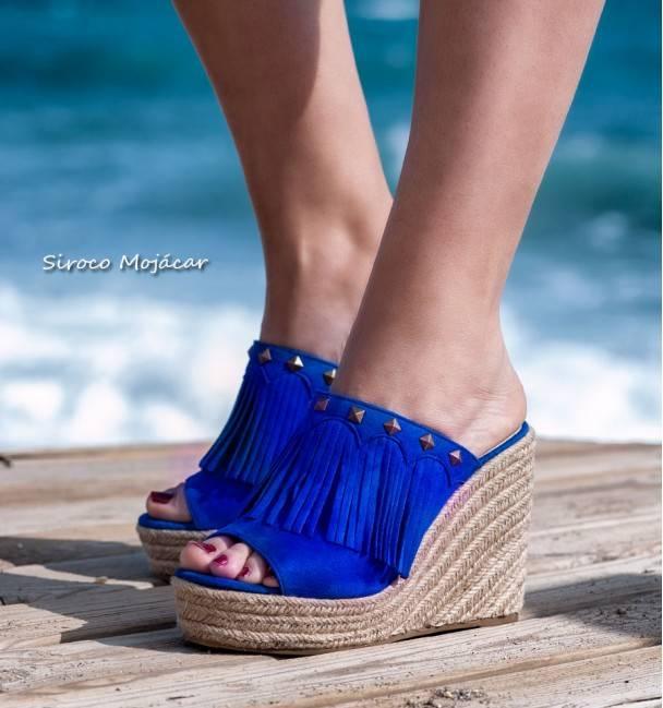 Mules Samara Azul