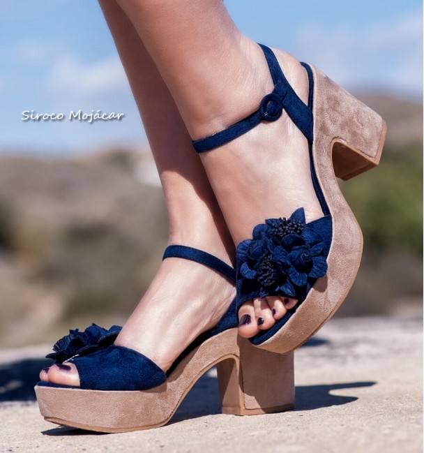Sandalias Amber Azul