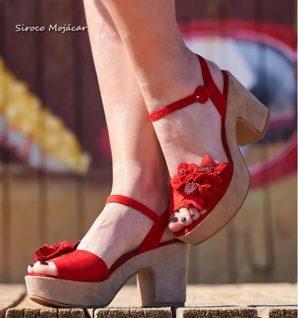 Sandalias Amber Rojo