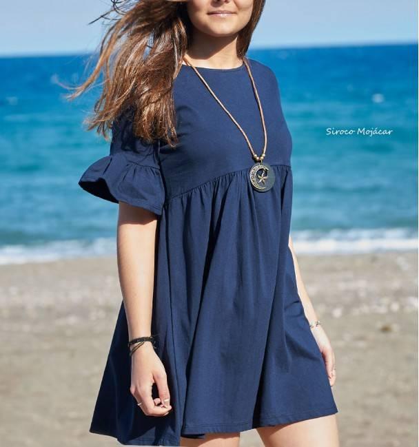 Vestido Doly Azul Marino