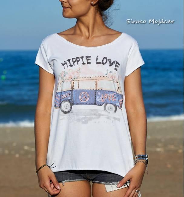 Camiseta Peace Azul
