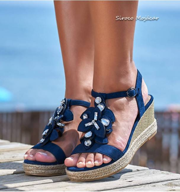 Sandalias Glass Azul