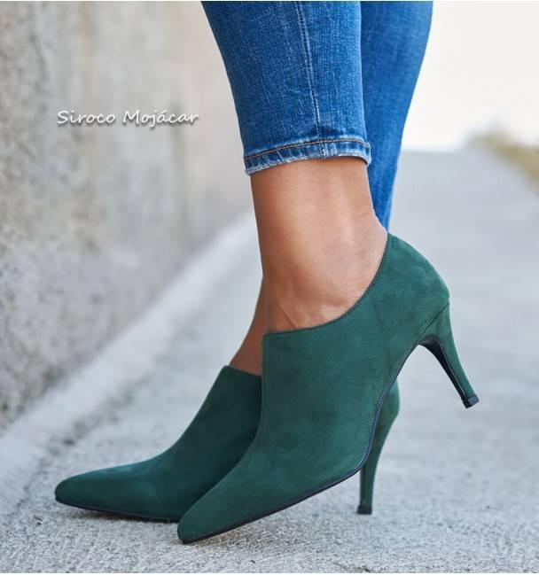 Zapatos Menina Verde
