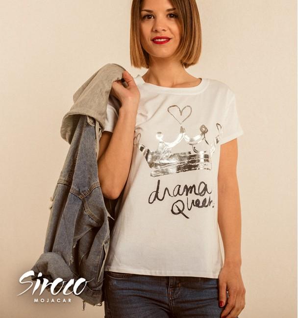 Camiseta Queen Plata