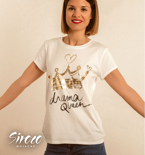 Camiseta Queen Oro