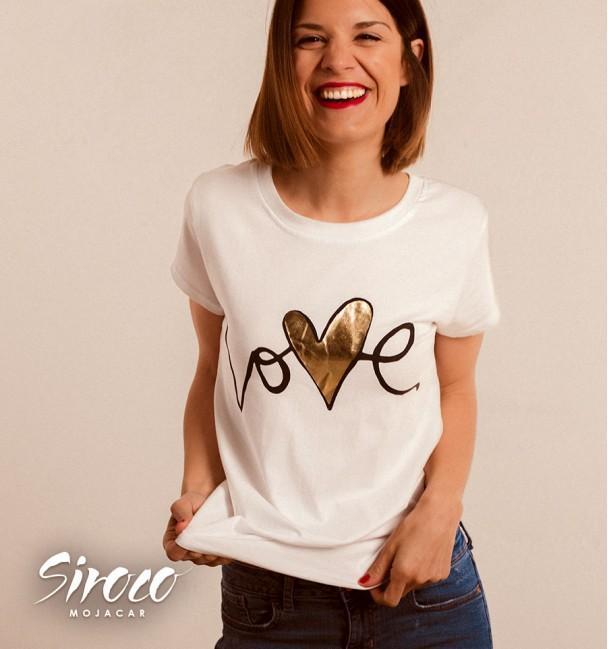 Camiseta Love Oro