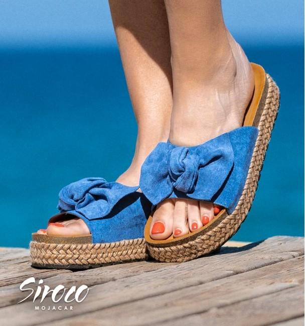 Sandalias Calvi Azul