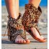 leopard imitation sandal boots