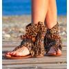 boot sandal animal print leopard