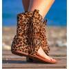 boho animal print sandals boots