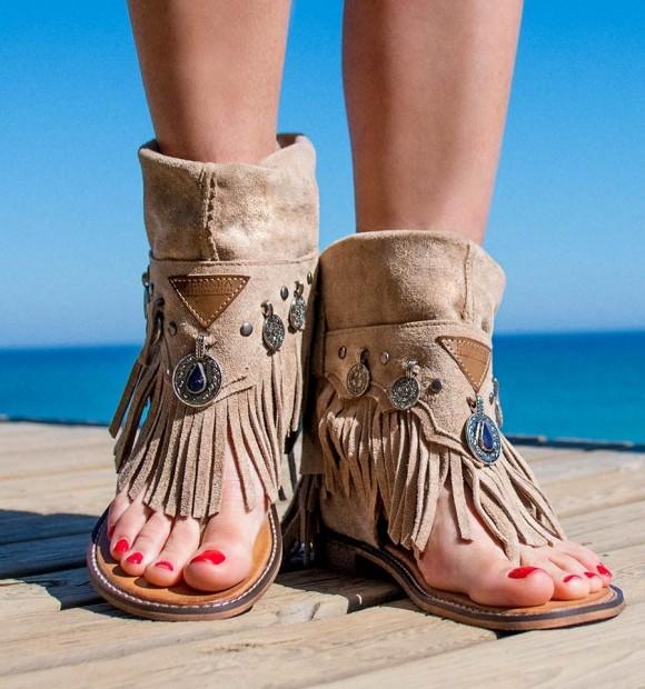 Sandalias Baratas Mujer Boho ChicIndiasPlanas Siroco Mojacar De OnPk80w