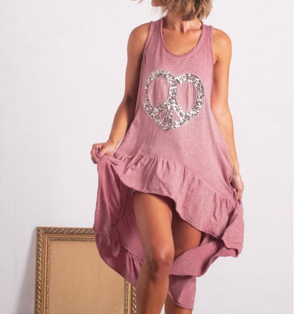 Vestido Zahora Rosa